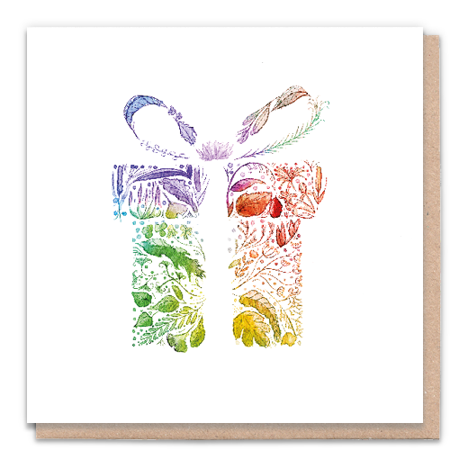 1 Tree Card 100% Recycled Greeting Card Vegan Inks - Rainbow Gift