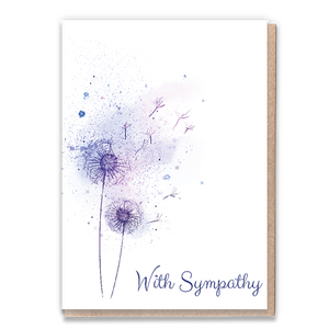 Load image into Gallery viewer, 1 Tree Card 100% Recycled Greeting Card Vegan Inks - With Sympathy - Vera-Bee Limited