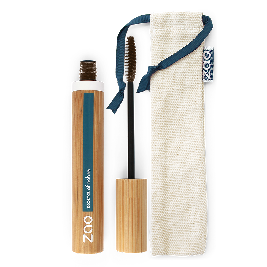 Aloe Vera Mascara Refillable Dark Brown 091 - Zao Makeup