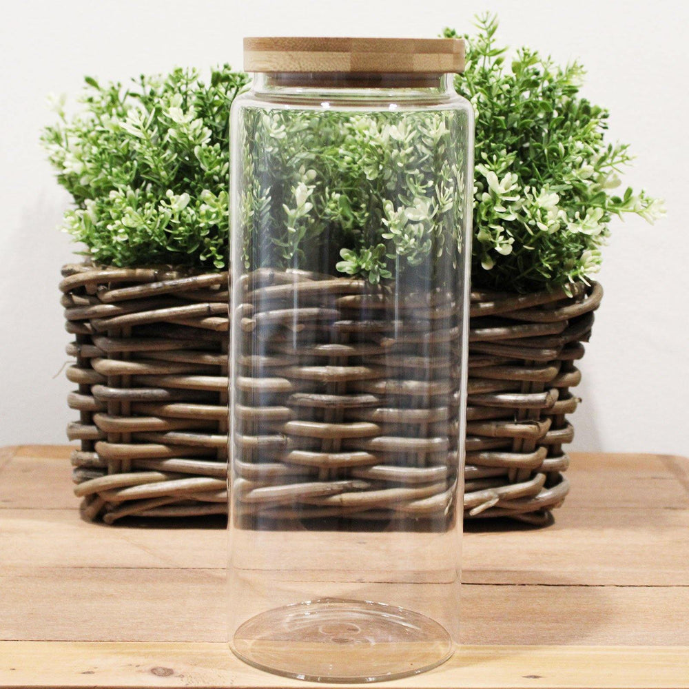 Glass Jar with Bamboo Lid 1500ml - All Earth