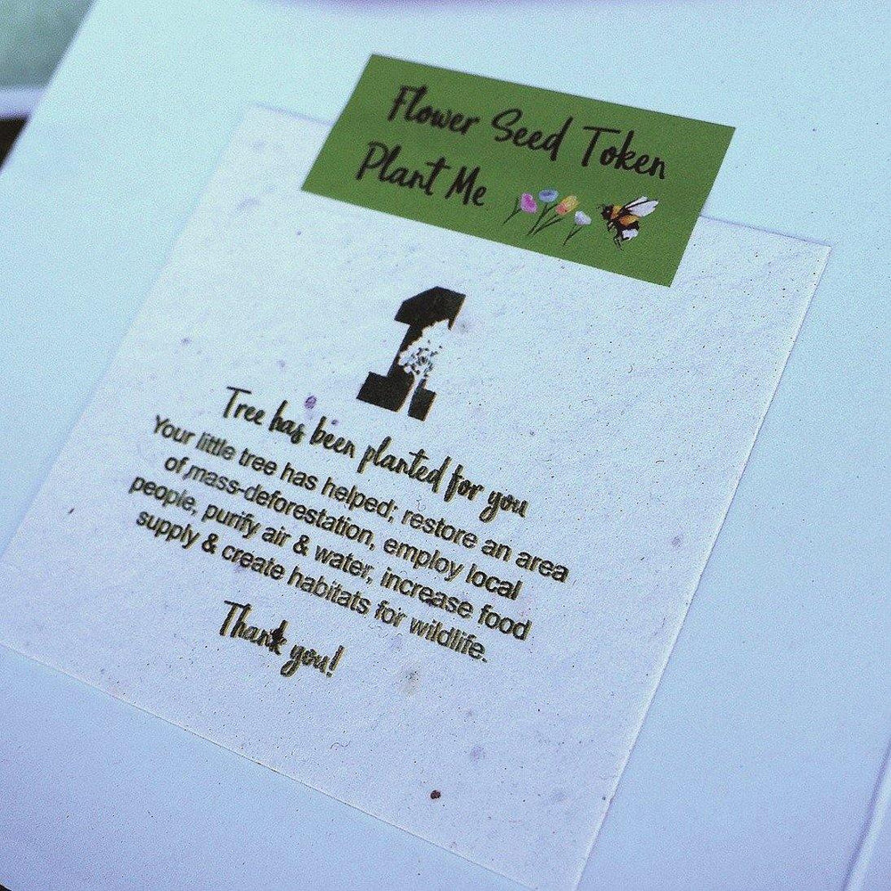 Load image into Gallery viewer, 1 Tree Card 100% Recycled Greeting Card Vegan Inks - Mum Green Flowers