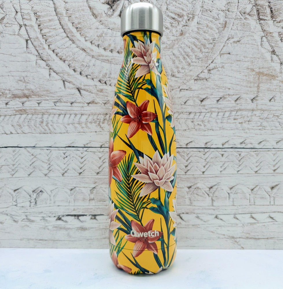 Qwetch Insulated Stainless Steel Water Bottle 500ml - Tropical