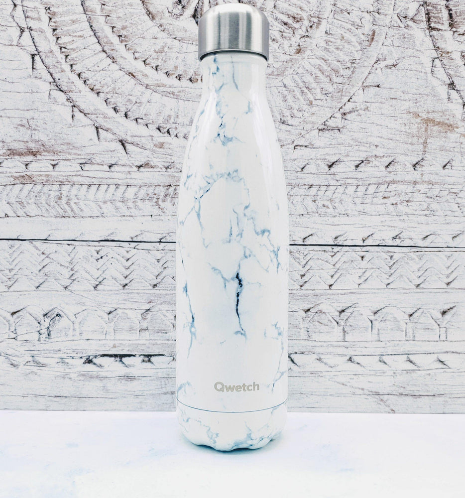 Qwetch Insulated Stainless Steel Water Bottle 500ml - Marble
