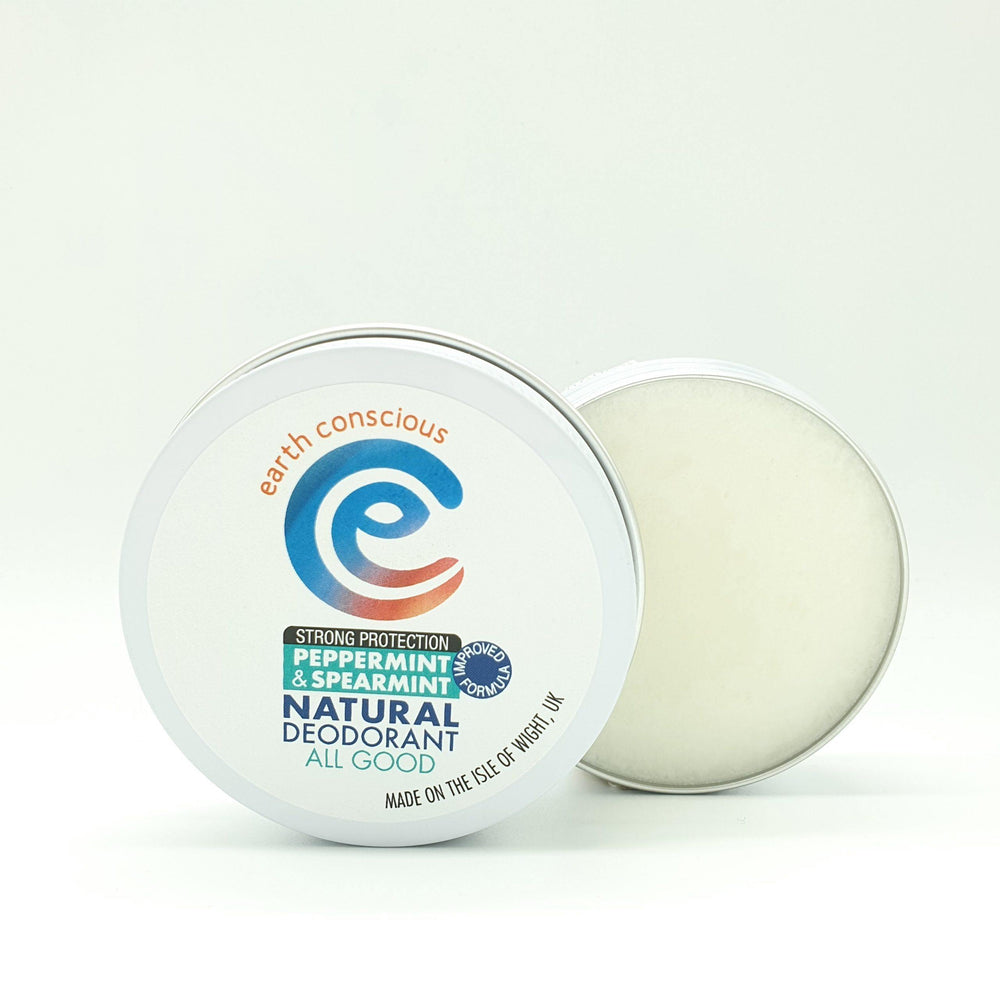 Natural Deodorant Peppermint & Spearmint Strong Protection Tin - earth conscious