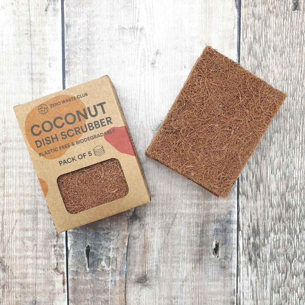 Coconut Dish Scrubber Pack of 5 - Zero Waste Club