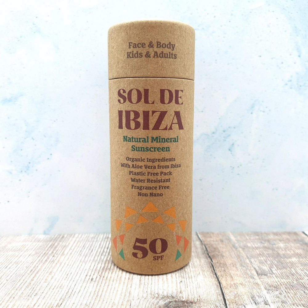 Face & Body Plastic Free Sunscreen Stick SPF50 - Sol de Ibiza - Vera-Bee Limited