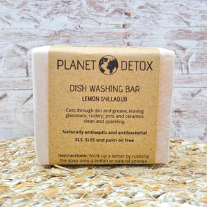Lemon Syllabub Dish Washing Soap Bar - Planet Detox