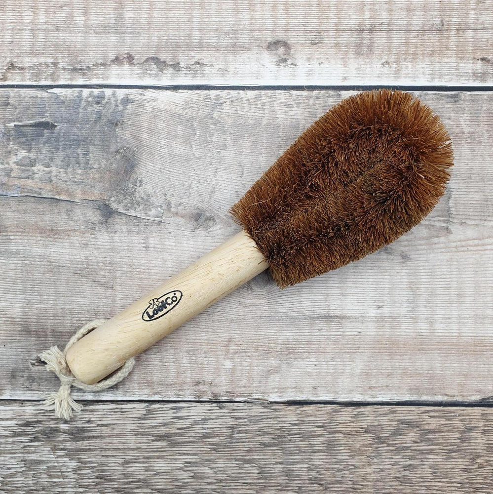 Coconut Coir Washing Up Brush with Handle - Loofco
