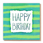 1 Tree Card 100% Recycled Greeting Card Vegan Inks - Happy Birthday Stripes