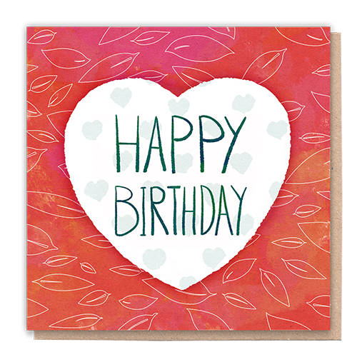 1 Tree Card 100% Recycled Greeting Card Vegan Inks - Happy Birthday Love - Vera-Bee Limited