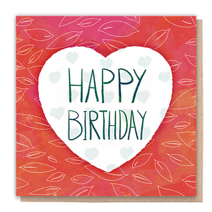 1 Tree Card 100% Recycled Greeting Card Vegan Inks - Happy Birthday Love