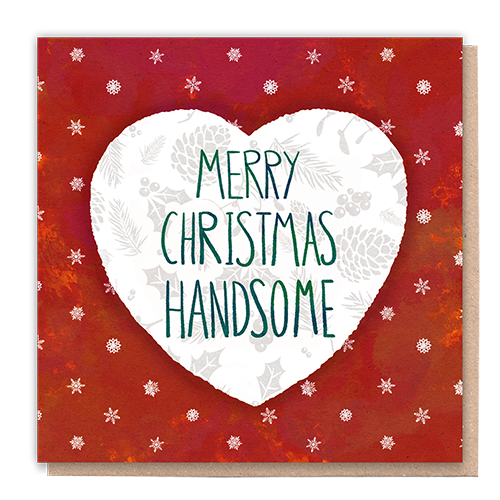 1 Tree Card 100% Recycled Greeting Card Vegan Inks - Merry Christmas Handsome