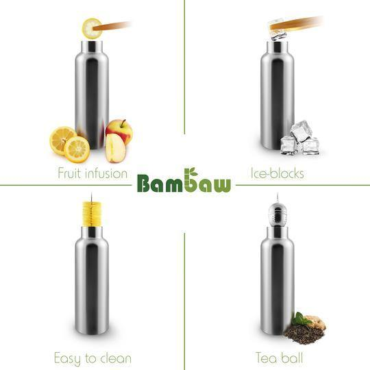 Stainless Steel Water Bottle Insulated 750ml - Bambaw - Vera-Bee Limited