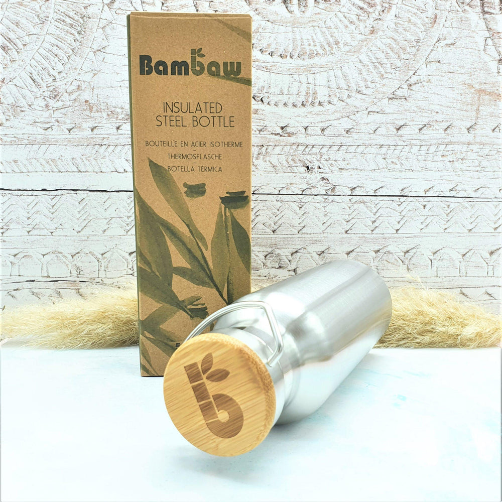 Stainless Steel Water Bottle Insulated 500ml - Bambaw - Vera-Bee Limited