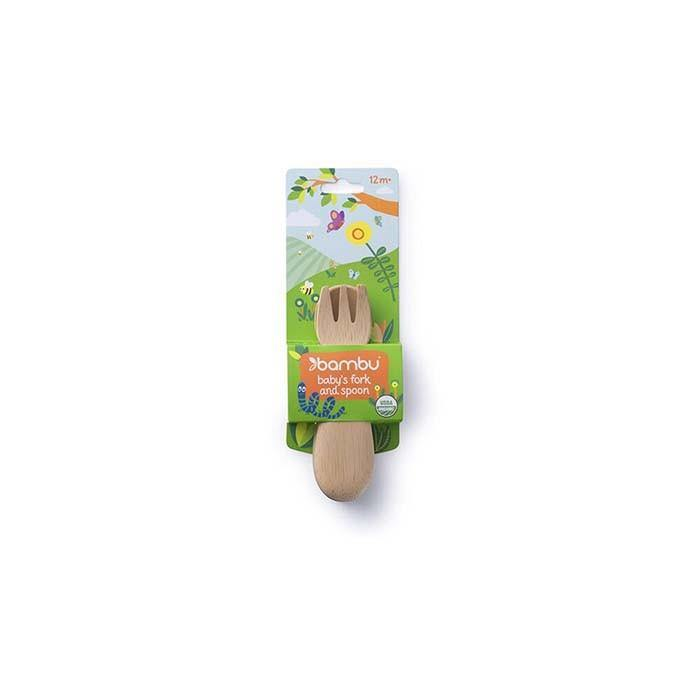 Baby's Fork & Spoon 12m+ - Bambu - Vera-Bee Limited