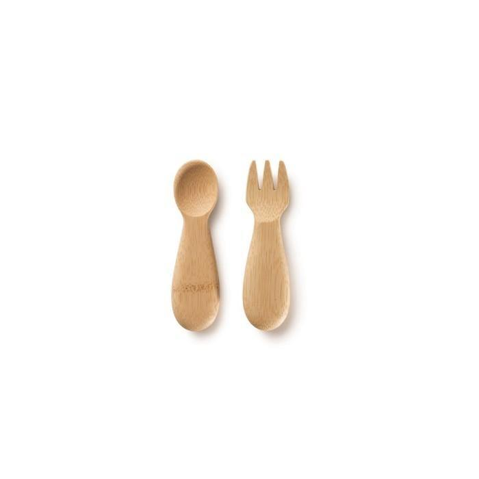 Load image into Gallery viewer, Baby's Fork & Spoon 12m+ - Bambu