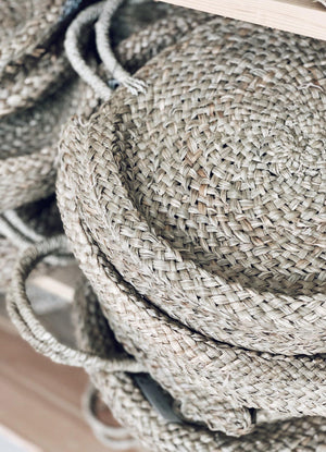 Basket Bag in Natural - Seagrass