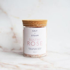 Bath Salts Sultry Rose - Salt + Steam