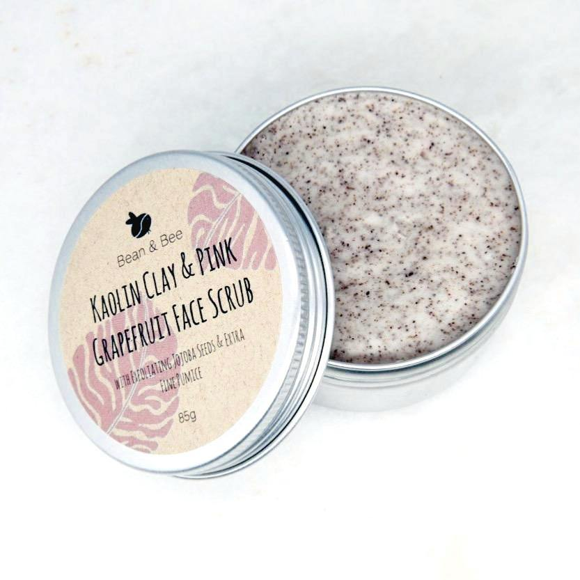 Kaolin Clay & Pink Grapefruit Face Scrub - Bean & Bee