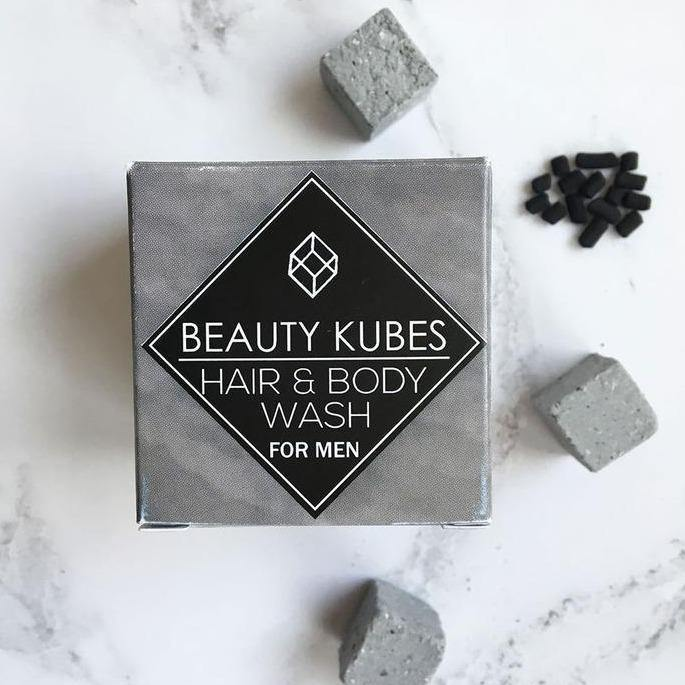 Beauty Kubes Hair & Body Wash for Men - Plastic Free - Vera-Bee Limited