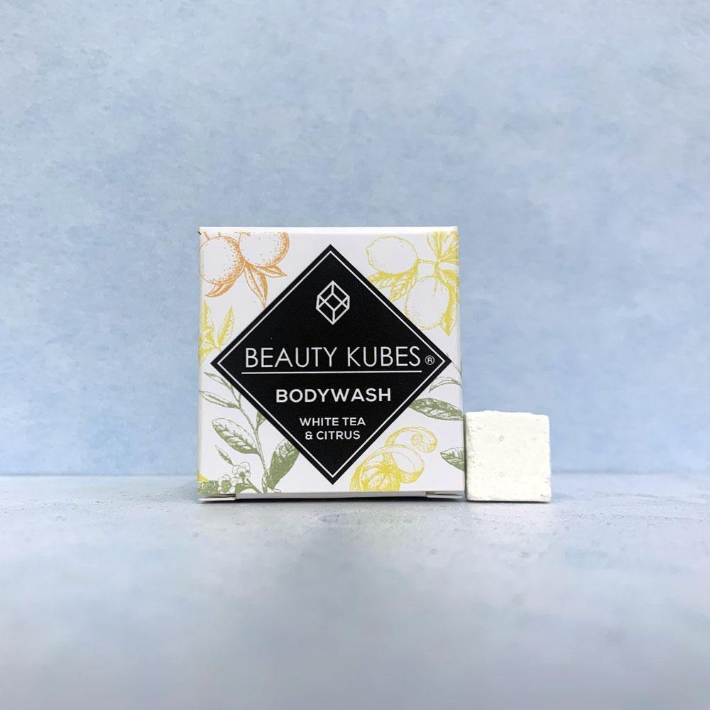 Beauty Kubes Body Wash Plastic Free - White Tea & Citrus - Vera-Bee Limited