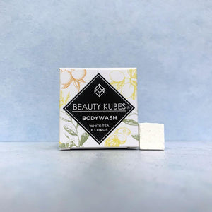 Load image into Gallery viewer, Beauty Kubes Body Wash Plastic Free - White Tea & Citrus - Vera-Bee Limited