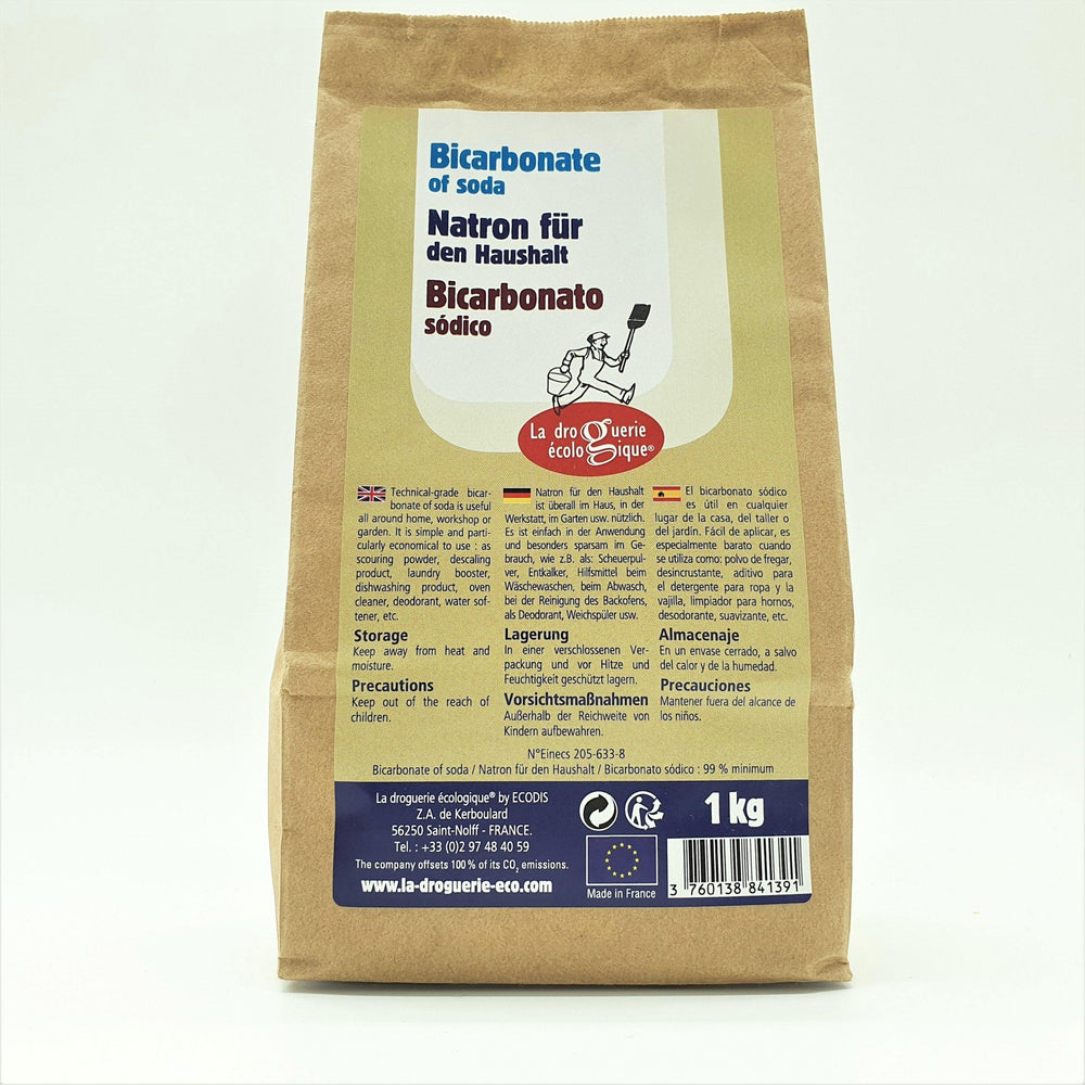 Bicarbonate of Soda - 1kg Kraft Bag
