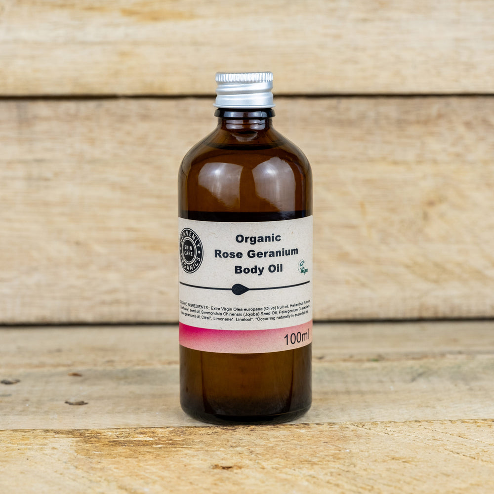Organic Rose Geranium Body Oil – Heavenly Organics