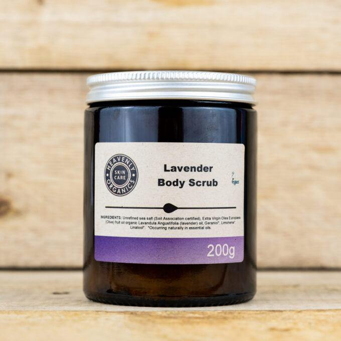 Organic Lavender Body Scrub – Heavenly Organics
