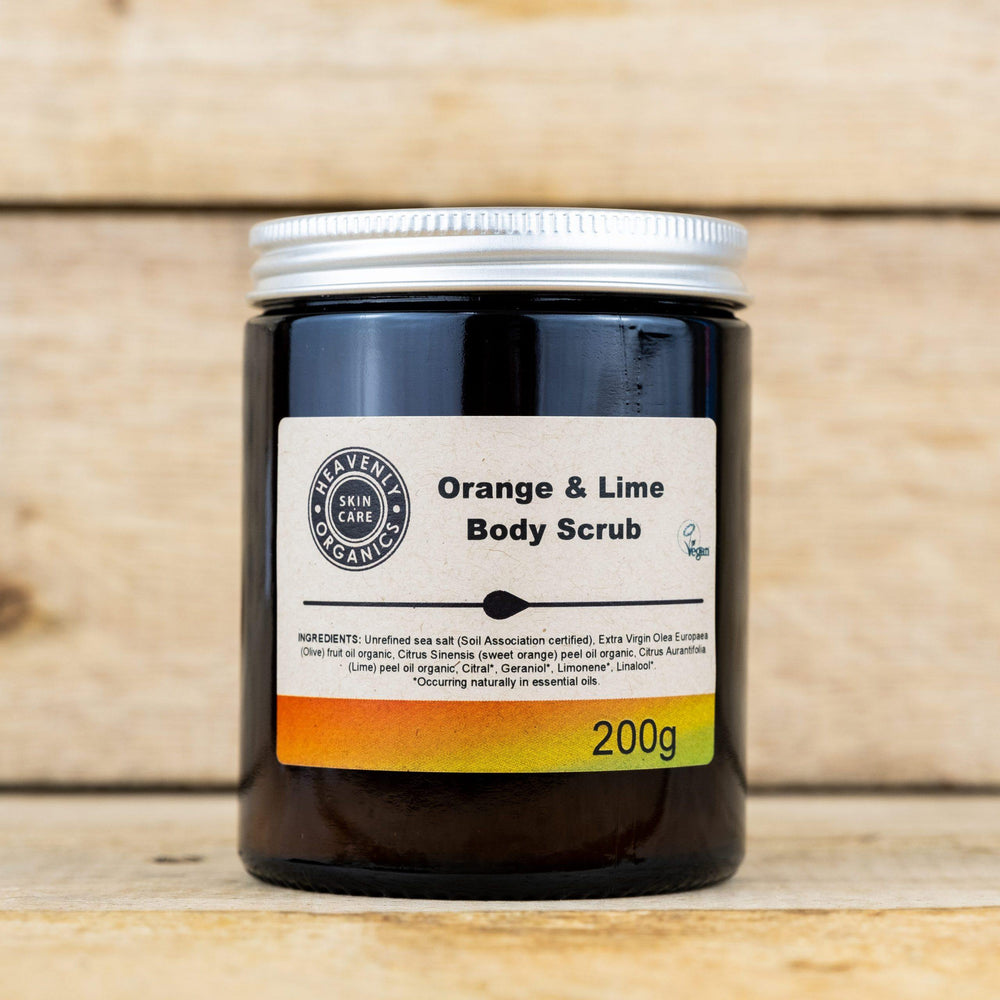 Organic Orange & Lime Body Scrub – Heavenly Organics