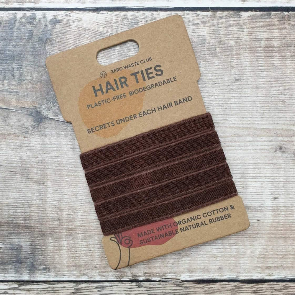 Load image into Gallery viewer, Plastic Free Biodegradable Hair Ties Brown Zero Waste Club - Vera-Bee