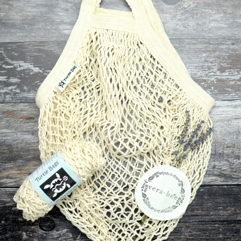 Oragnic Cotton String Shopping Bag in Natrural
