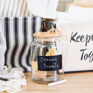 Glass Chalkboard Storage Jar - sass & belle