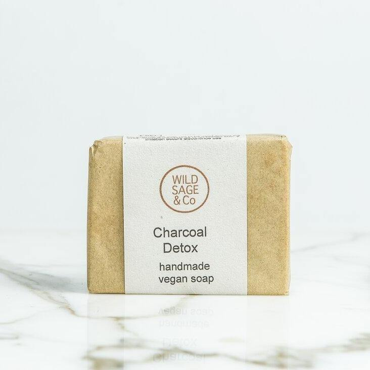 Wild Sage & Co Charcoal Detox Handmade Vegan Soap