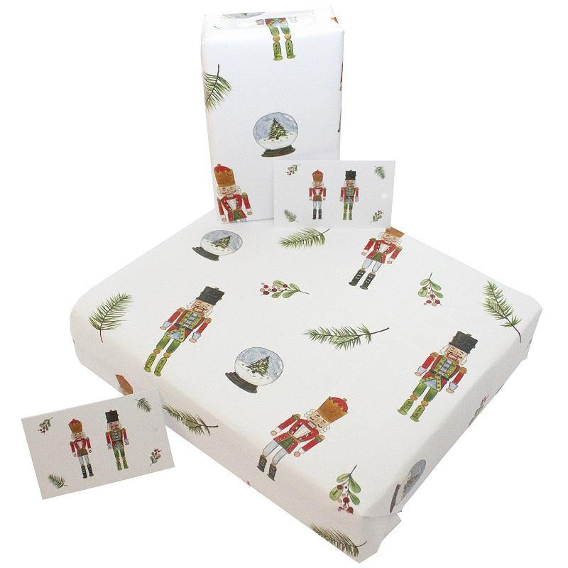 Eco-friendly Recycled Christmas Wrapping Paper - Tin Soldiers