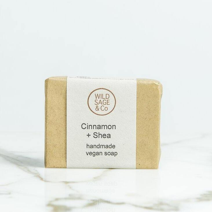 Cinnamon & Shea Butter Natural Soap Bar - Wild Sage & Co - Vera-Bee Limited