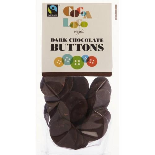 Cocoa Loco Organic Dark Chocolate Buttons - 100g