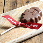 Cocoa Loco Organic Milk Chocolate Santa Lolly - 40g