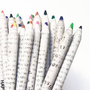 Recycled Newspaper Coloured Pencils - Vera-Bee Limited