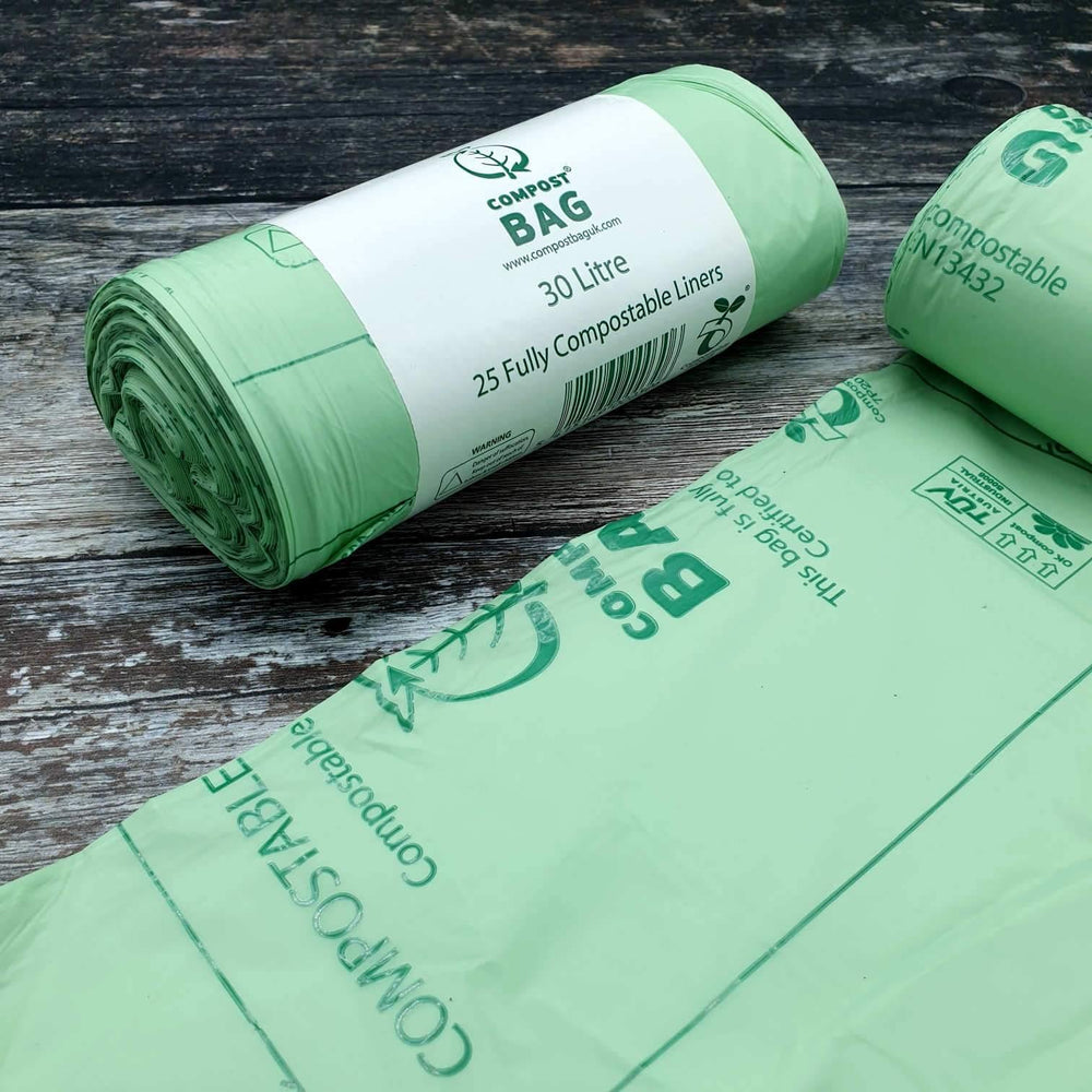 Compostable Bin Liners 30L x 25 - Compost Bag