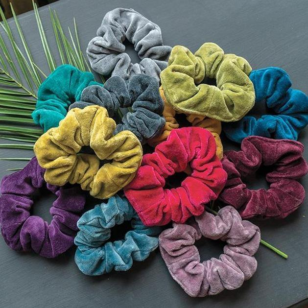 Cotton Velvet Scrunchies - Upcycled Off Cuts