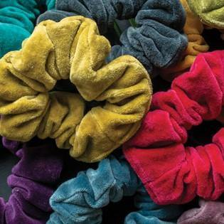 Cotton Velvet Scrunchies - Upcycled Off Cuts - Vera-Bee Limited