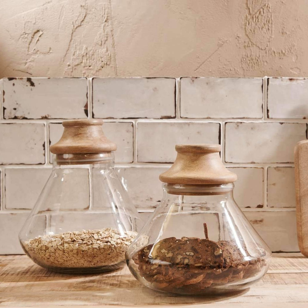 Storage Jars – Handblown Recycled Glass – Nkuku