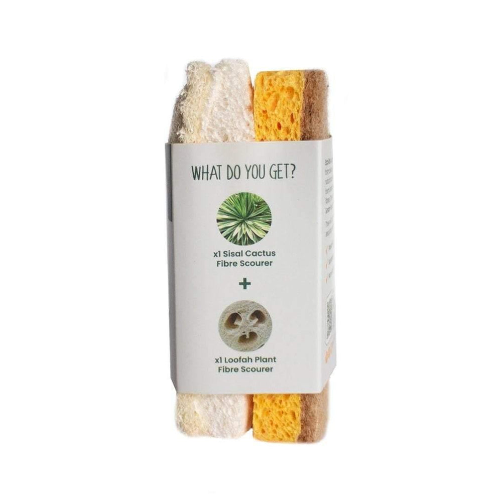 Compostable Sponge & Scourer Duo Pack - EcoVibe