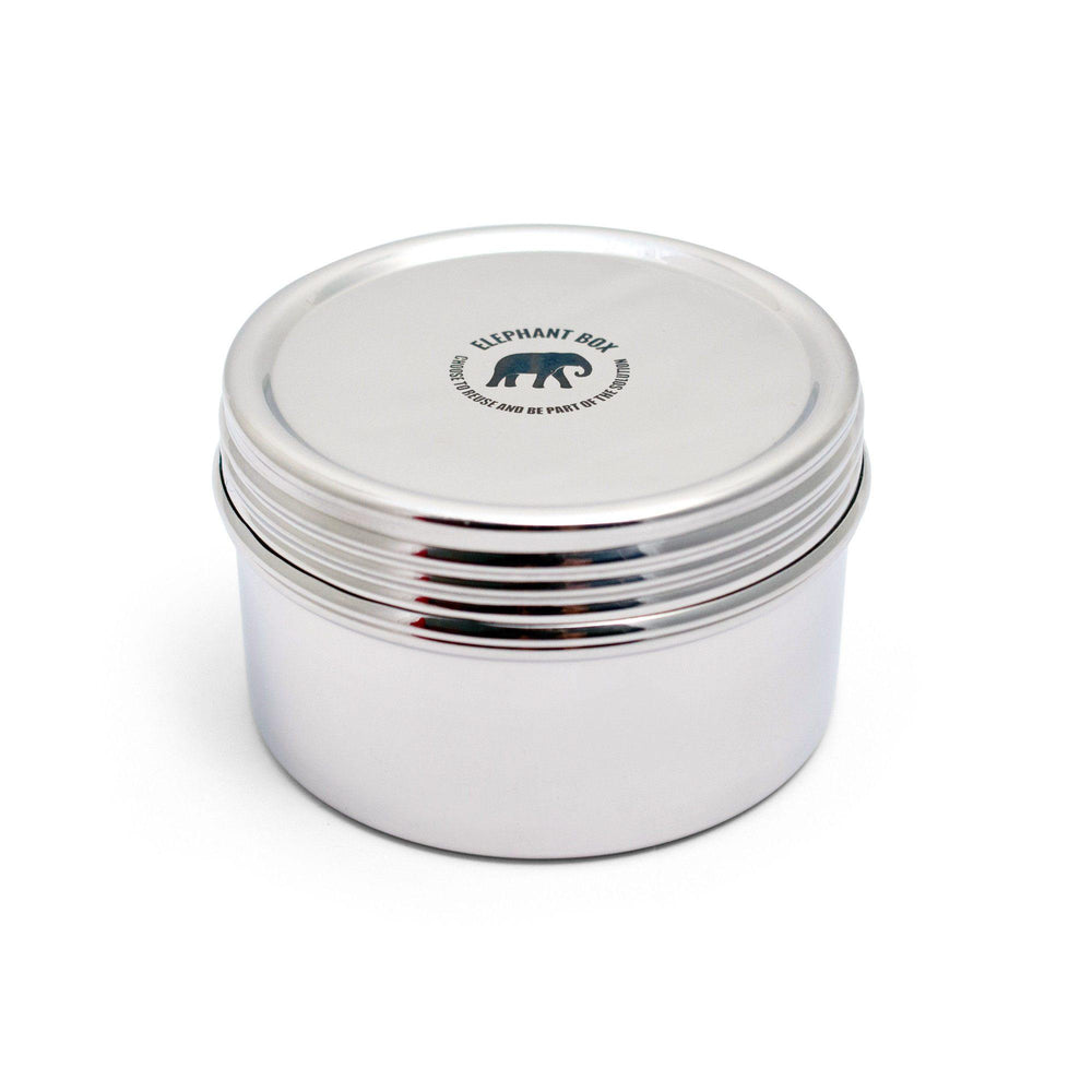 Elephant Box Large Screw Top Canister - Stainless Steel Snackbox & Food Storage