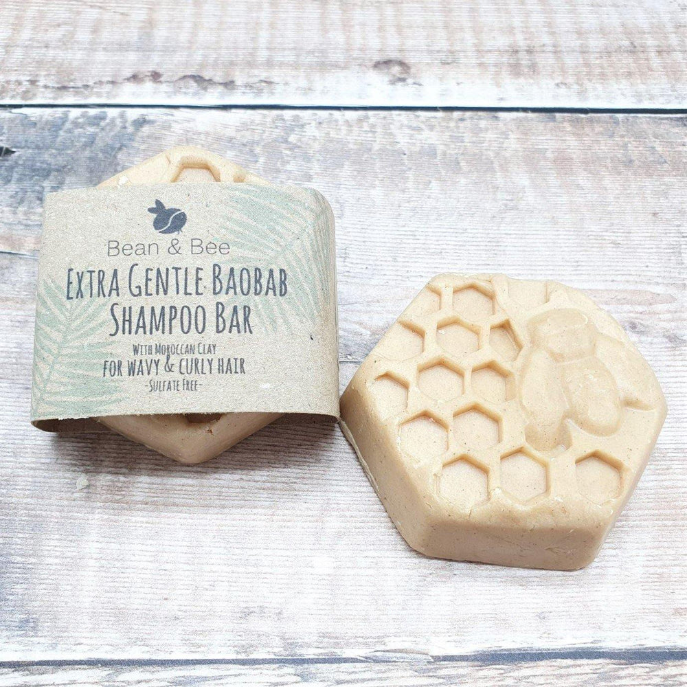 Extra Gentle Baobab Shampoo Bar for Curly Hair - Bean and Bee