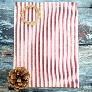 Reusable Ticking Cotton Fabric Gift Bag by Vera-Bee - Small