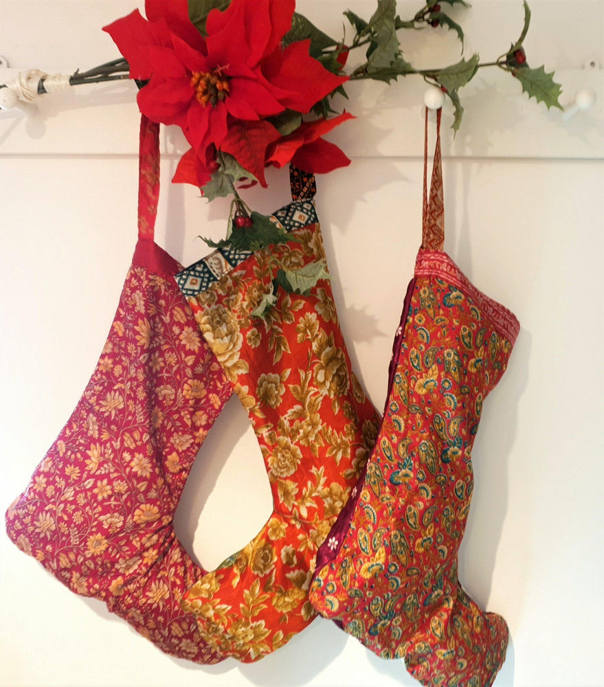 Festive Stocking Recycled Sari