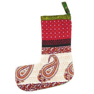 Load image into Gallery viewer, Festive Stocking Recycled Sari