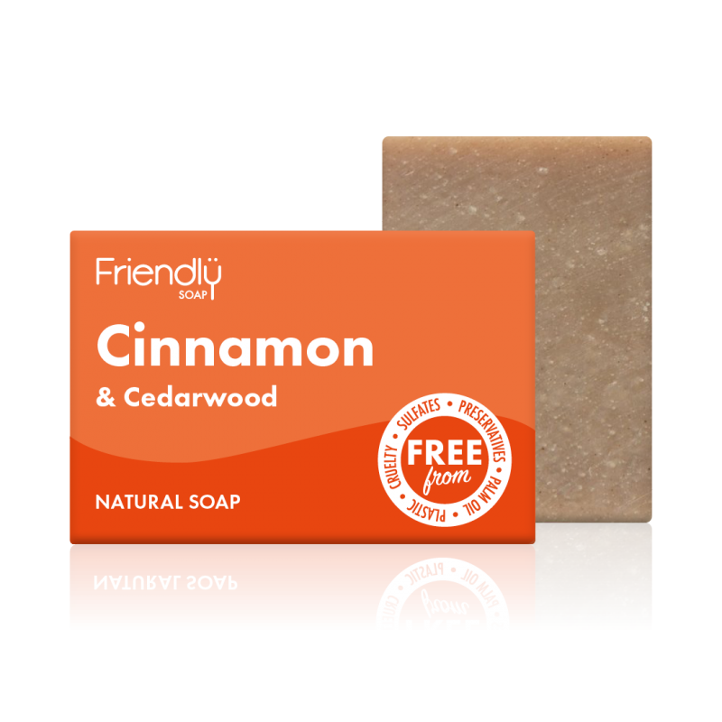 Cinnamon & Cedarwood Soap Bar - Friendly Soap